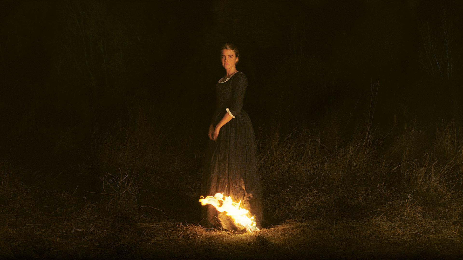 Porträtt av en kvinna i brand